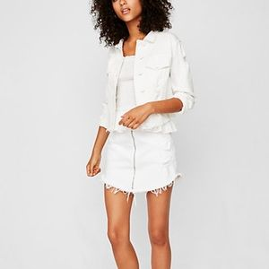 White distressed jacket from Express